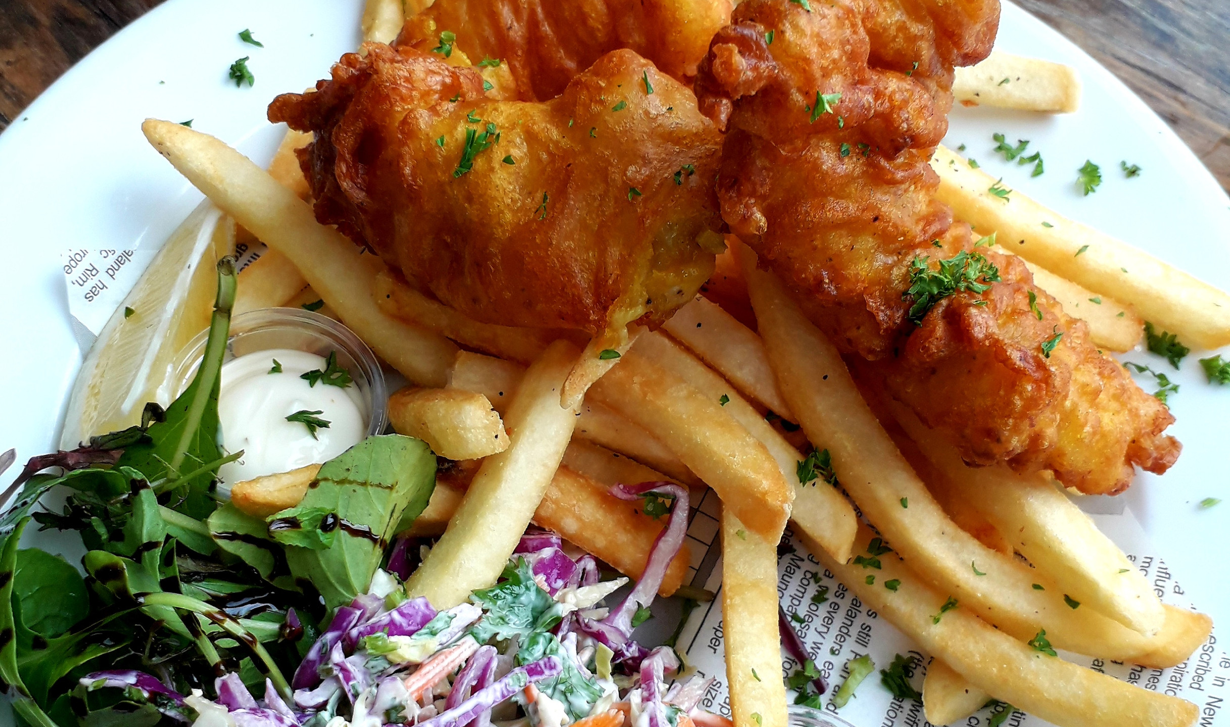 Traditionnel Fish &Chips. ©Taina CALISSI