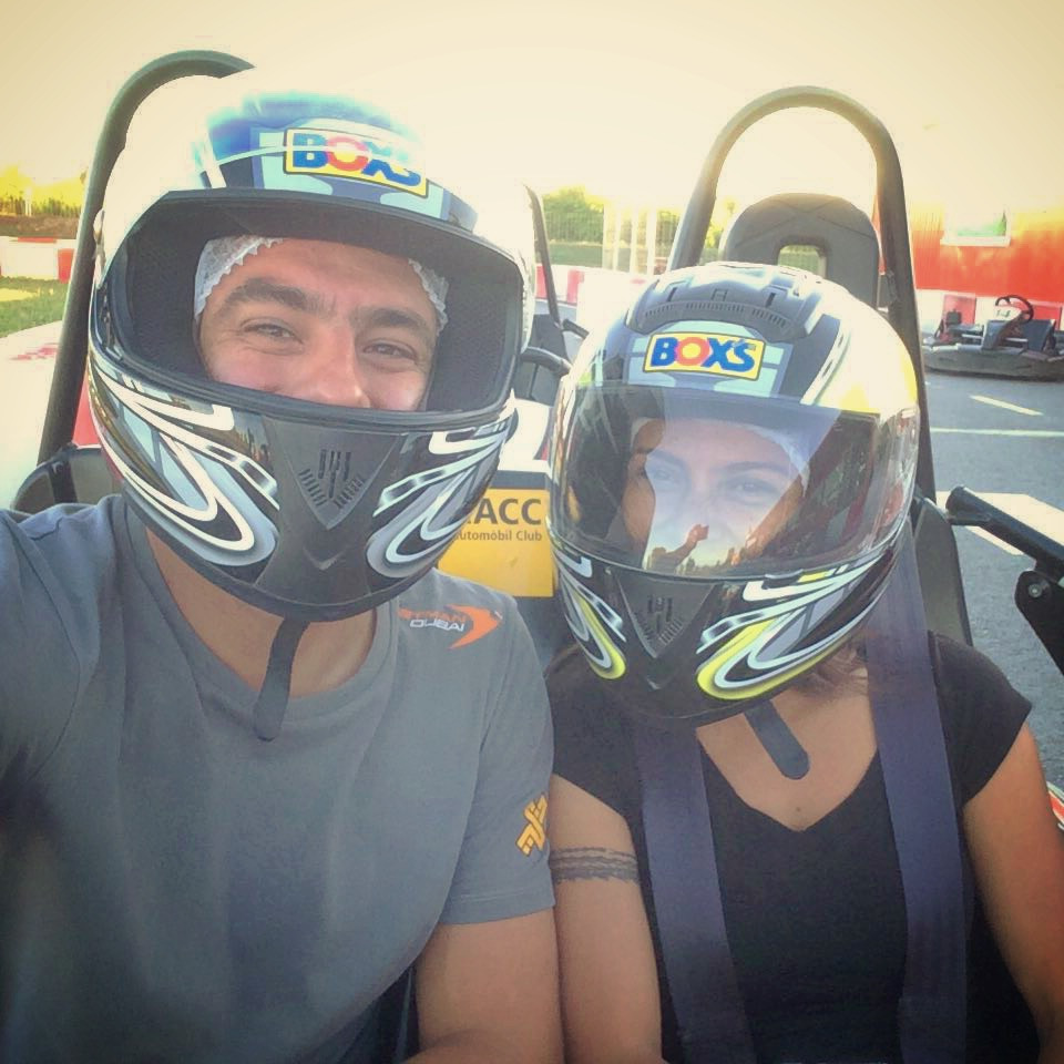 Karting en Espagne.