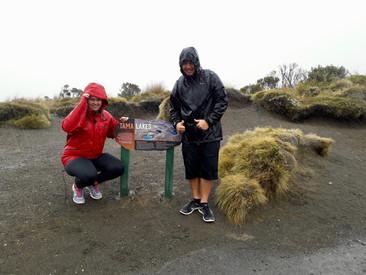 We did it despite the rain.