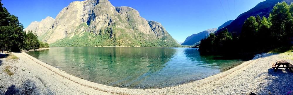 Lac d'Eikesdalen, Norvège Eté 2016