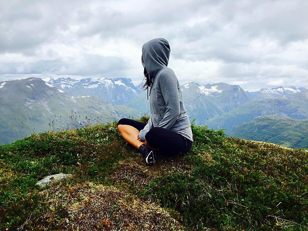 Moi, sur Hellysitkopen, Norvège. Eté 2016.