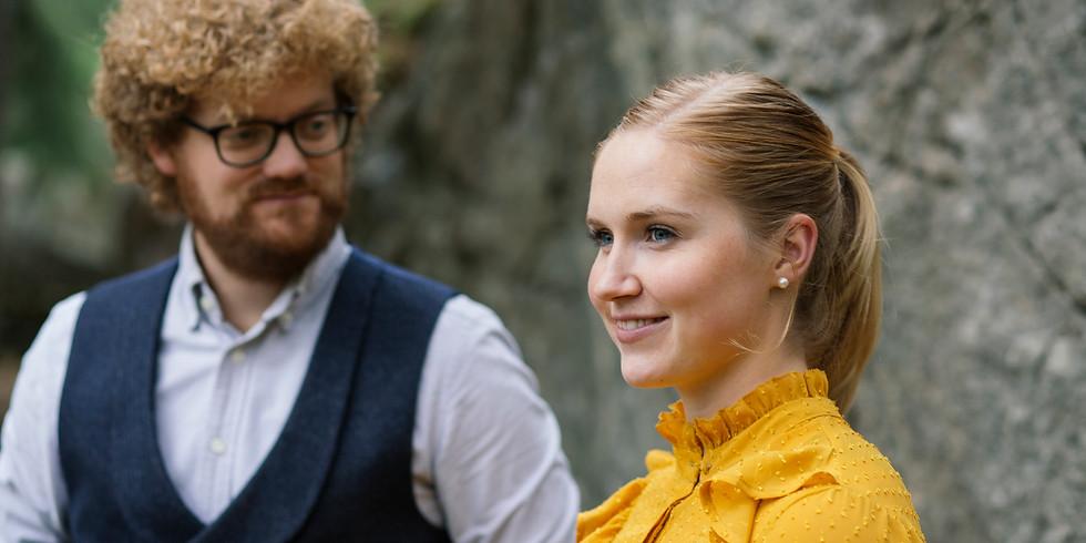 Aslak Opsahl Brimi og Mari Midtli med Sinfonietta Innlandet