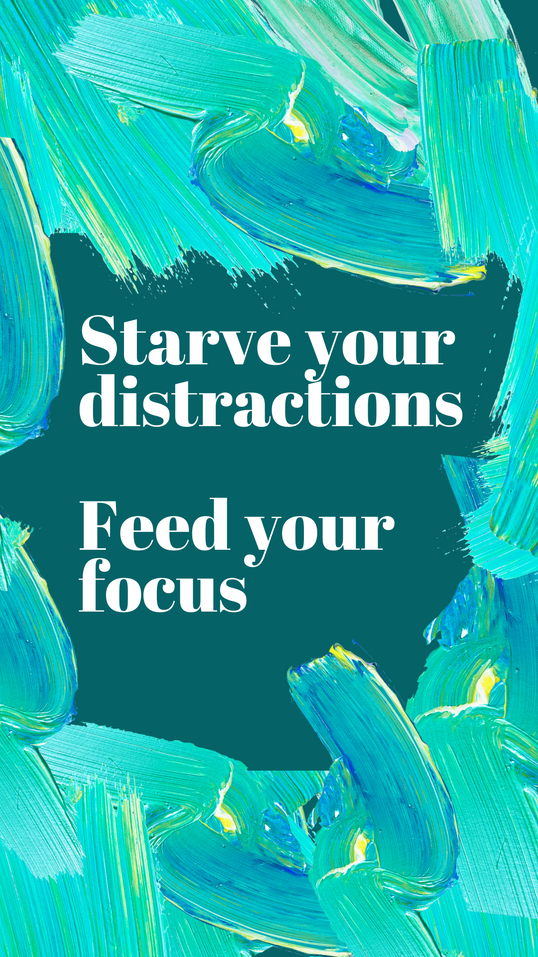 Starve your distractions   paint