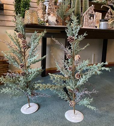 "35"" PINE TREE W/CONES & TWIGS"
