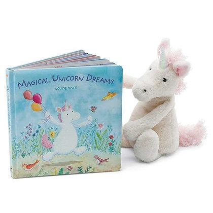 Jellycat Bashful Unicorn and Magical Unicorn Dreams Book