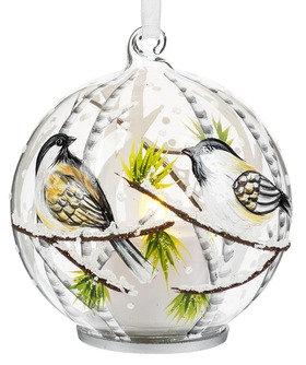 Light up Glass Chickadee Ornament - Style 1