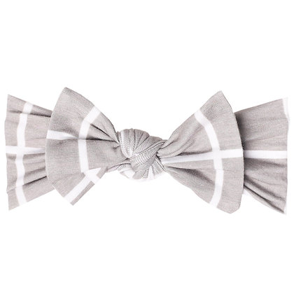 Midway Knit Headband Bow Copper Pearl