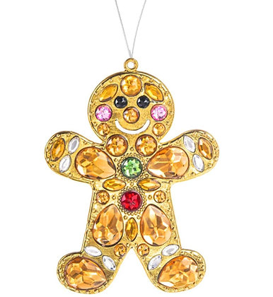 Crystal Expressions Gingerbread Man Ornament