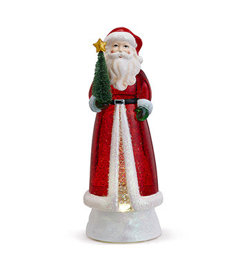 LED Santa with tree Battery Operated