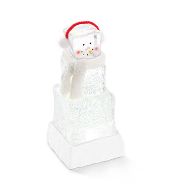 LED Ice Cube Snowman Battery Operated