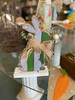 Wooden Standing Bunny Decoration