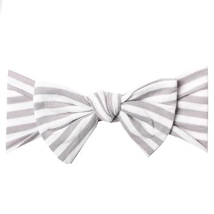Everest Knit Headband Bow Copper Pearl