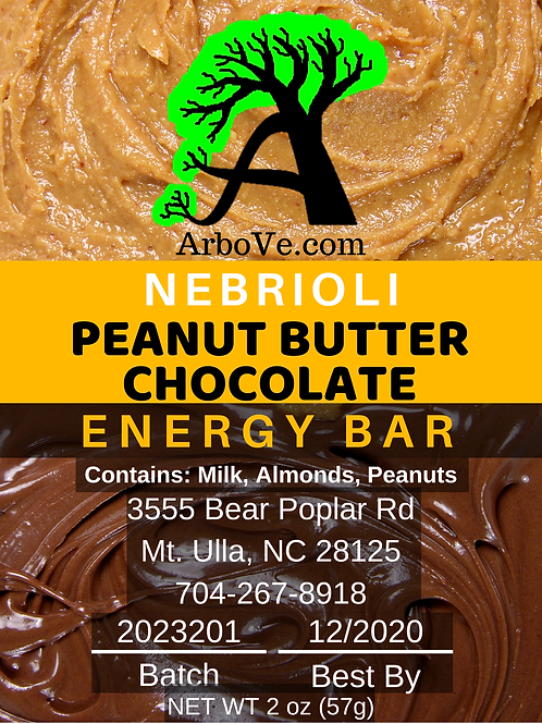 Nebrioli Peanut Butter Chocolate Energy Bar