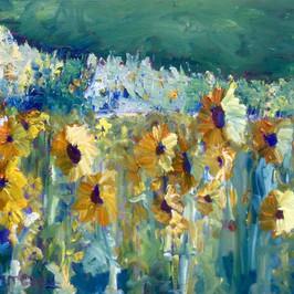 Tournesols, Oil on Canvas.