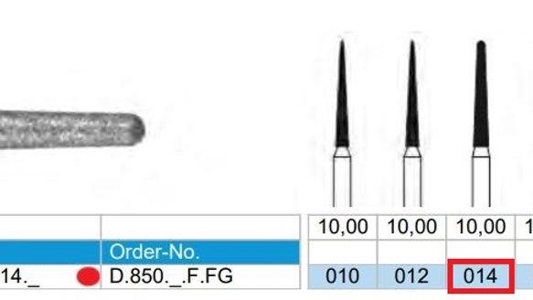 DIAMOND BURS FG (X5)          806 314 199 514 014  ( FRANK DENTAL / GERMANY)