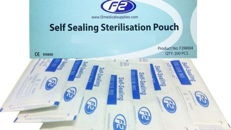 "Sterilization Pouch 2.25"" x 5.125"" = 57MM x 130MM"