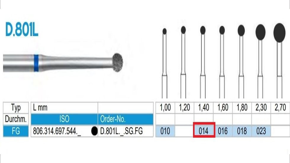 DIAMOND BURS FG (X5)          806 314 697 544 014  ( FRANK DENTAL / GERMANY)