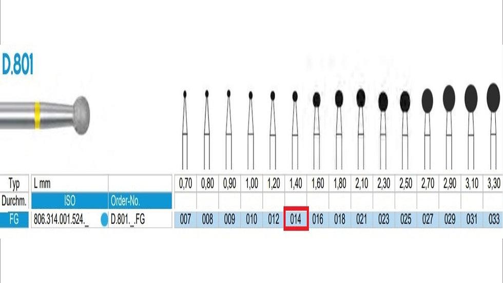 DIAMOND BURS FG (X5)          806 314 001 524 014   (FRANK DENTAL / GERMANY)
