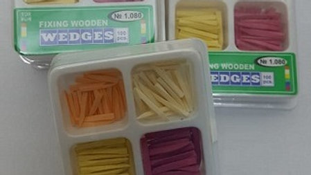 WOODEN WEDGES ( ASSORTED ) PK/100