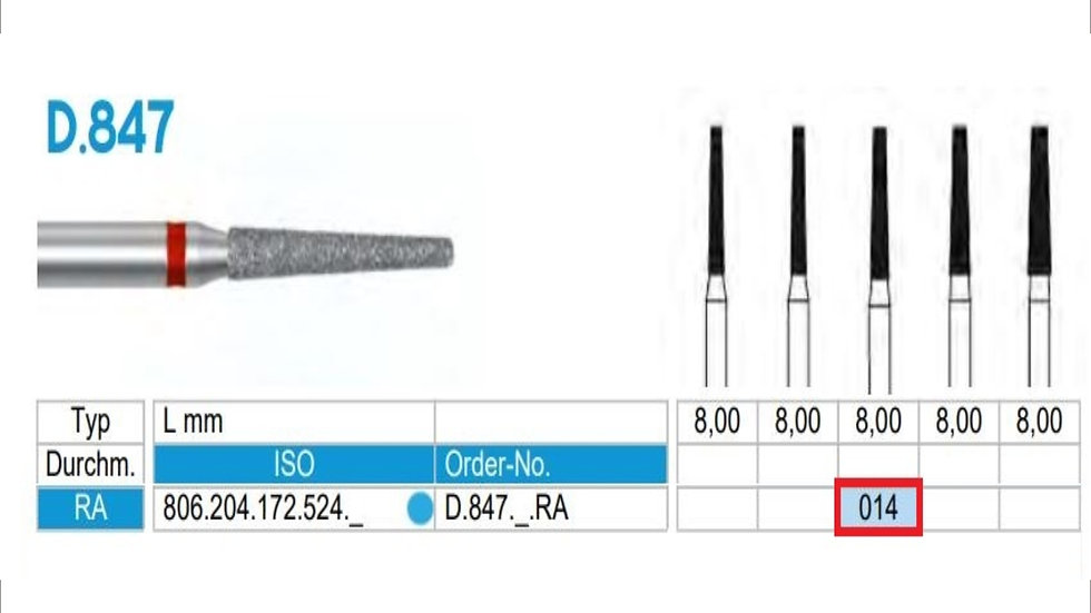 DIAMOND BURS FG (X5)          806 314 172 524 016 () FRANK DENTAL / GERMANY