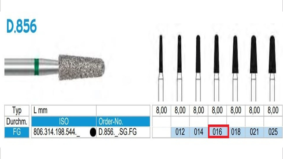 DIAMOND BURS FG (X5)          806 314 198 544 016  ( FRANK DENTAL / GERMANY)