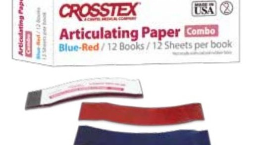 ARTICULATING AND OCCLUSION TESTING MATERIALS BLUE (CROSSTEX - USA)