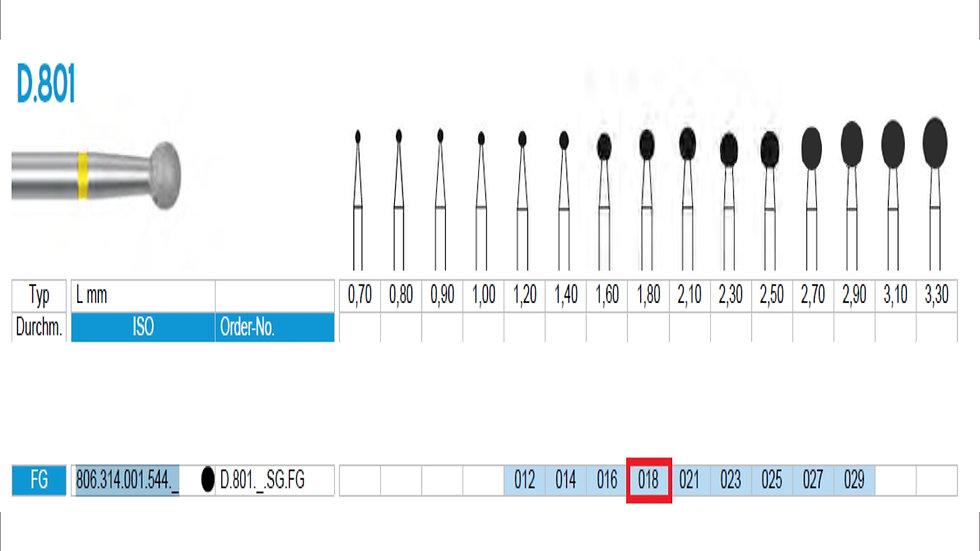 DIAMOND BURS FG (X5)          806 314 001 544 018   ( FRANK DENTAL / GERMANY)