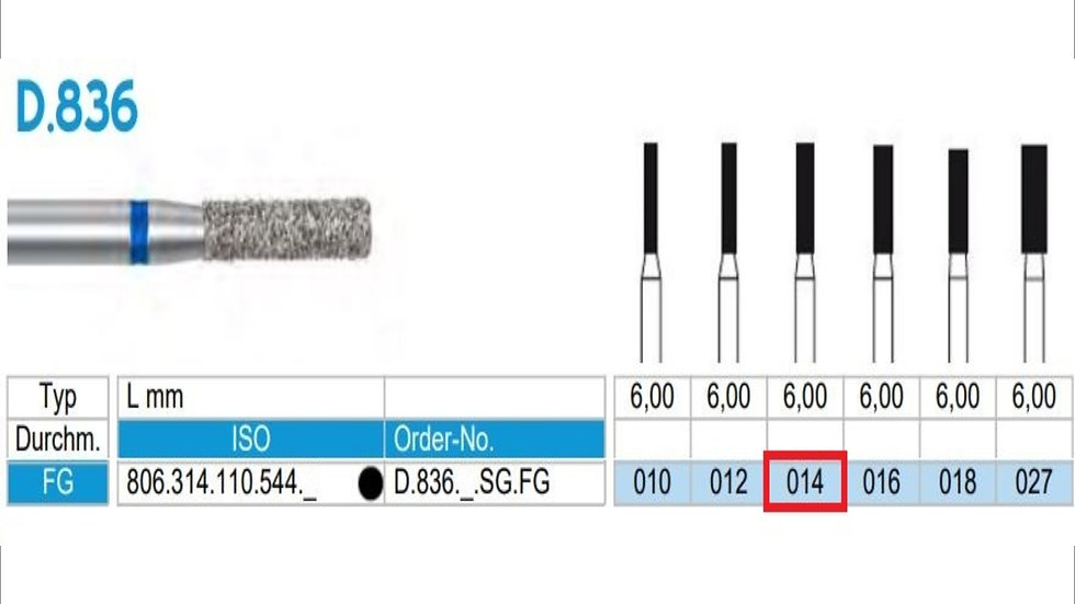 DIAMOND BURS FG (X5)          806 314 110 544 014( FRANK DENTAL / GERMANY)