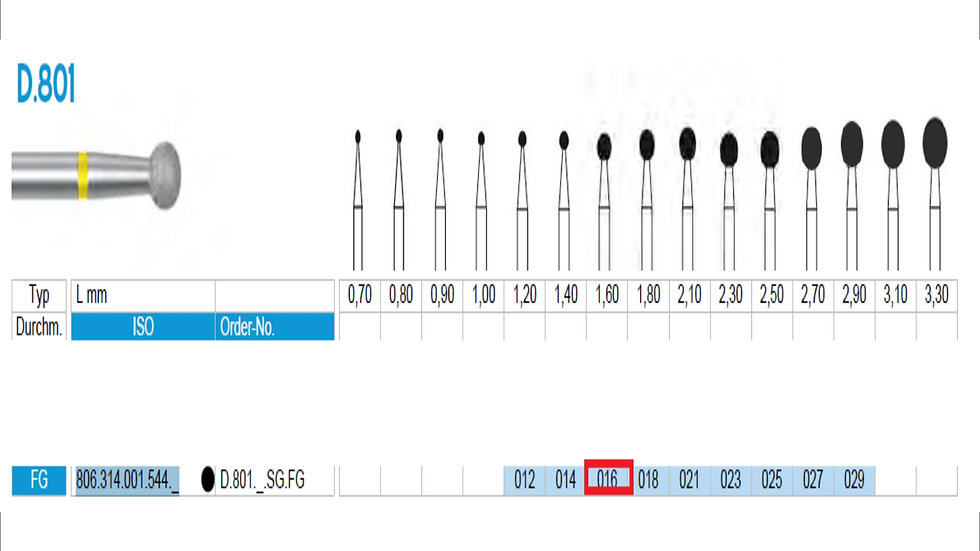 DIAMOND BURS FG (X5)          806 314 001 544 016 ( FRANK DENTAL / GERMANY)