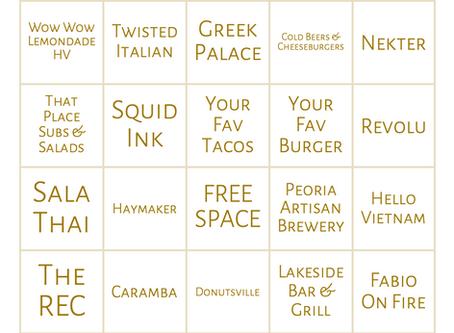 UWS Takeout Bingo
