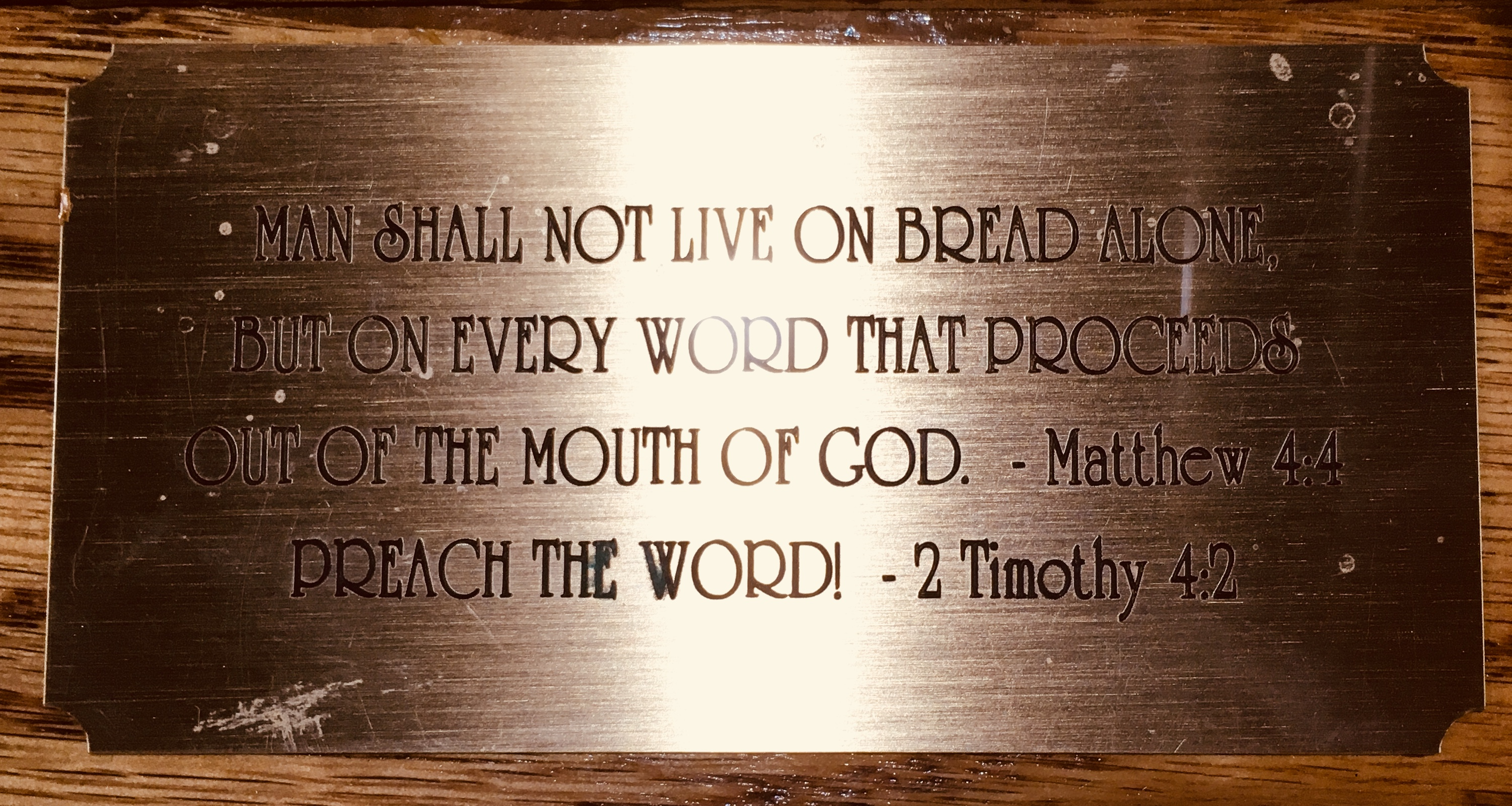 Chapel Pulpit Plaque