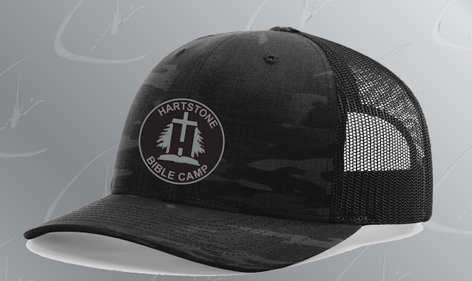 New HBC Black Camo Trucker Hat