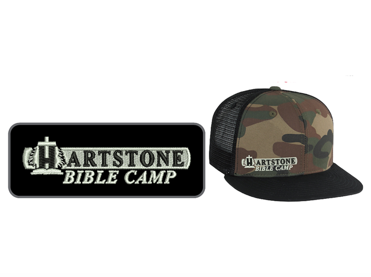 Old Camo Flat bill w_ Mesh Trucker Hat