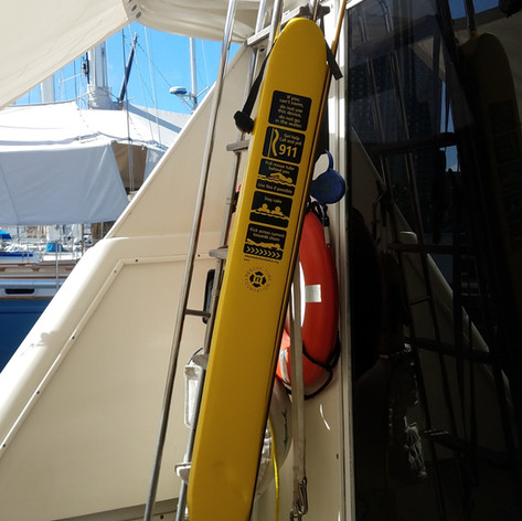 On a boat, Oahu