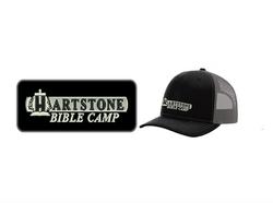 Old Black w_ Grey Mesh Trucker Hat