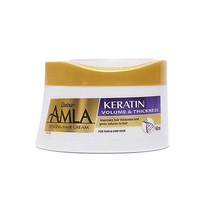 Крем для укладки волос  Кератин Dabur Amla Keratin ,140мл.