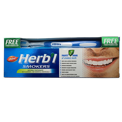 Зубная паста для курильщиков + зубная щётка, Dabur Herb'l, 150гр.