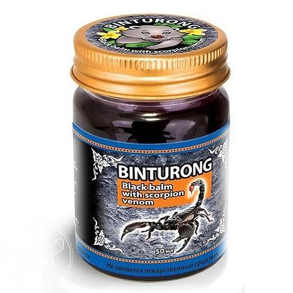 Черный бальзам с ядом скорпиона, Binturong Black balm with scorpion, 50мл.