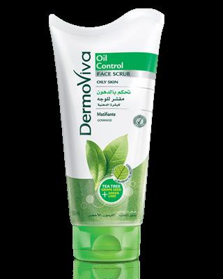 Скраб для жирной кожи лица, Dermoviva Face Scrub Oil Control, 150мл.