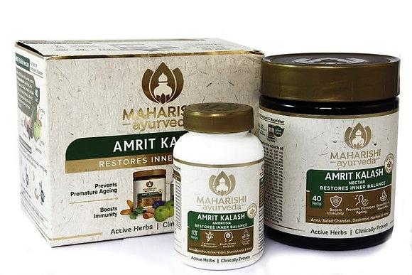 Амрит Калаш  для иммунитета и омоложения, Amrit Kalash Maharishi 60таб+600гр.