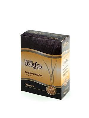 Травяная краска для волос Черная, Aasha Herbals, 6*10гр.
