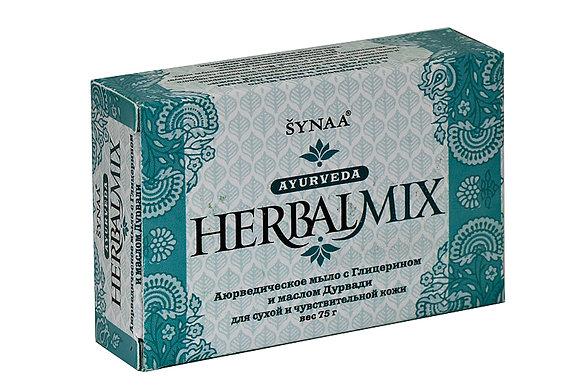 Аюрведическое мыло с Глицерином и маслом Дурвади, Synaa, 75гр.
