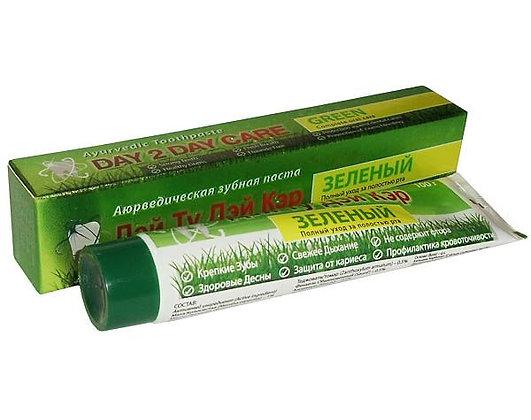 Аюрведическая зубная паста Зеленая, Day 2 Day Care, 100гр.