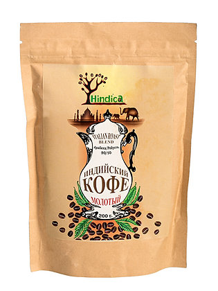 Индийский кофе молотый Italian Roast Blend, 100гр.