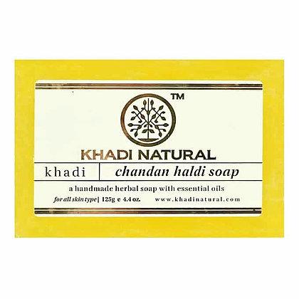 Мыло ручной работы Халди Чандан, Khadi Natural Haldi Chandan, 125гр.