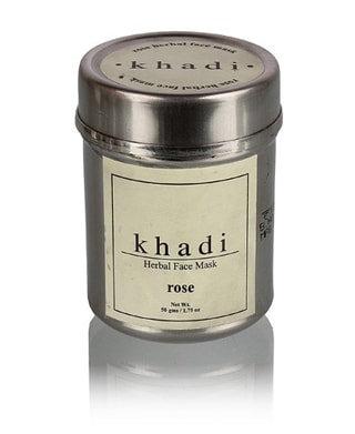 Маска для лица Роза, для сухой и чувствительной кожи, Khadi, 50гр.