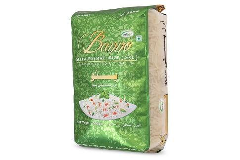 Рис Басмати Банно Селла XXL шлифованный пропаренный, Banno Sella, 05,кг.