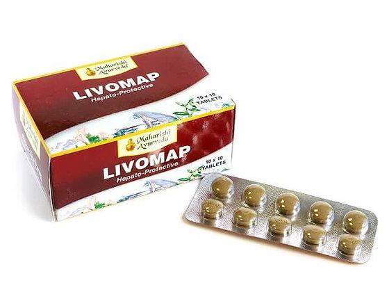 Ливомап лечение заболеваний печени, Livomap Maharishi Ayurveda, 100таб.