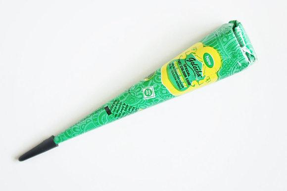 Зеленая хна для тату в конусе Golecha
