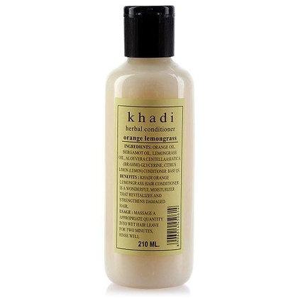 Кондиционер для жирных волос Апельсин и Лимонная трава без SLS, Khadi, 210мл.